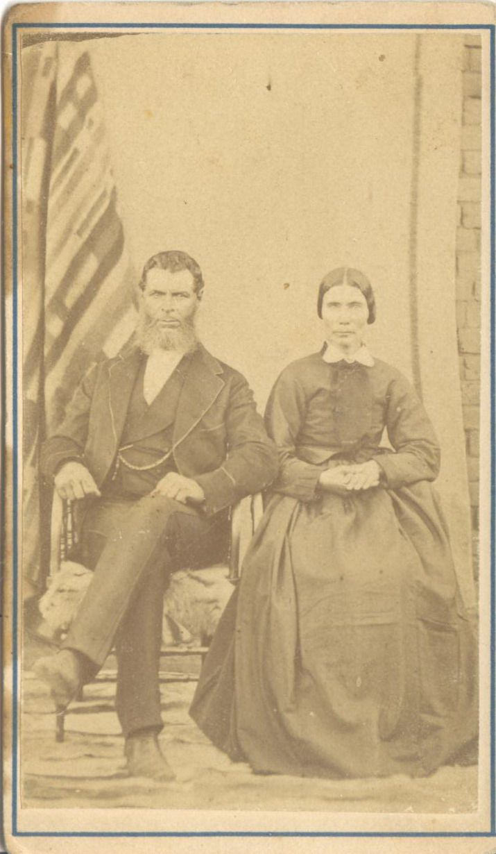 Barend Petrus van den Berg and his wife. He was a veteran of the Battle of Bloodriver, and his father was one of the men killed with Piet Retief at KwaMatiwane