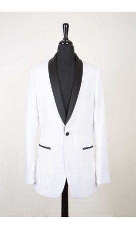 """""""Bradford"""" White Tuxedo Jacket"""