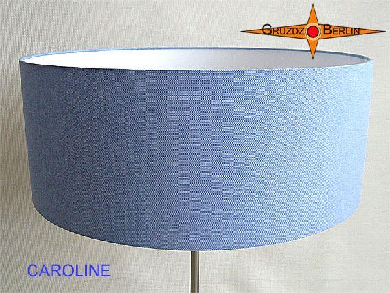Stehleuchte CAROLINE h 155 cm Stehlampe Leinen Blau.
