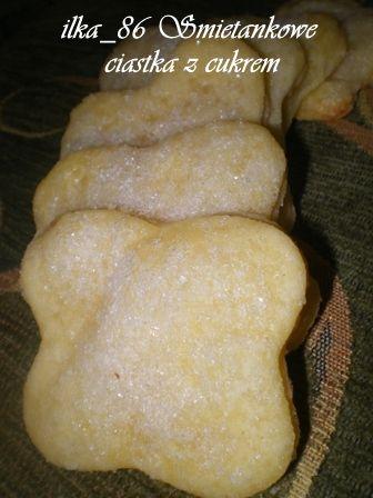 Uwielbiam gotować: Śmietankowe ciasteczka z cukrem