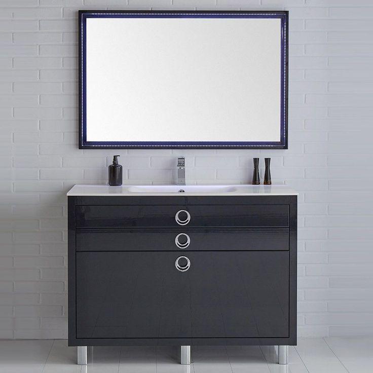 Fresca Platinum Due Glossy Bathroom Vanity