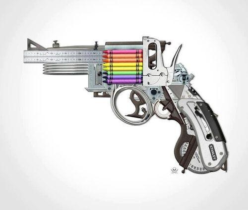 Weapon of mass creativity. I flipping love this. Can I have one?