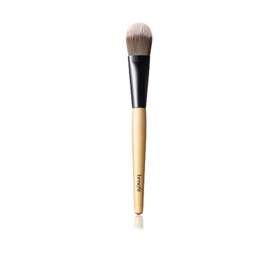 The best foundation brush I've ever come across. It feels so good on the skin, you never wanna stop swiping it over your face. Serious addiction potential. By Benefit Cosmetics, retails at around $24.