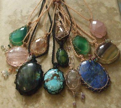 macrame stones