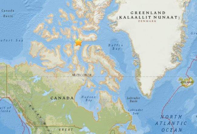 01/08/2017 - A magnitude 5.8 earthquake struck around 89 km southeast of the Inuit hamlet of Resolute in Nunavut, according to the U.S. Geological Survey and Earthquakes Canada.