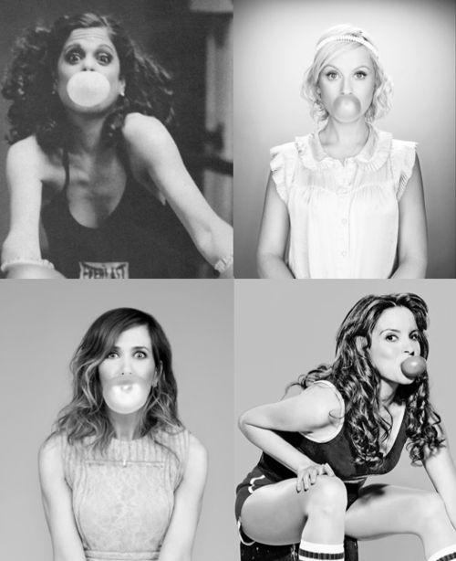 Gilda Radner, Amy Poehler, Kristen Wiig, Tina Fey
