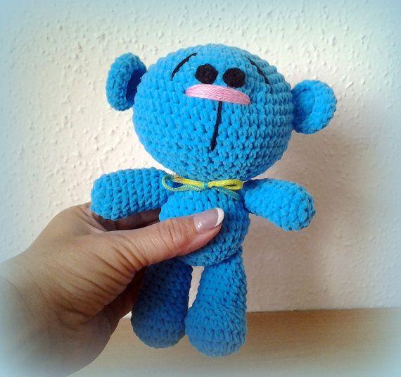 Crochet Teddy Candy Turquoise by CrochetlandRV on Etsy