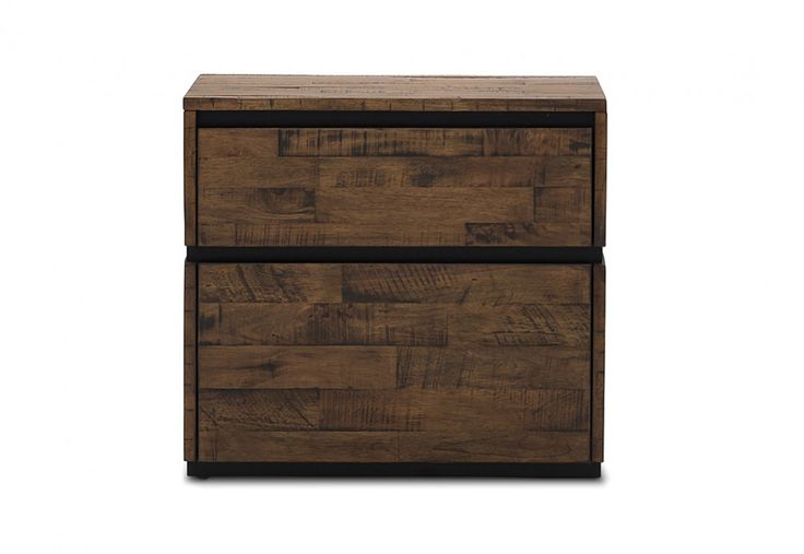Trillian 2 Drawer Bedside Chest | Super Amart