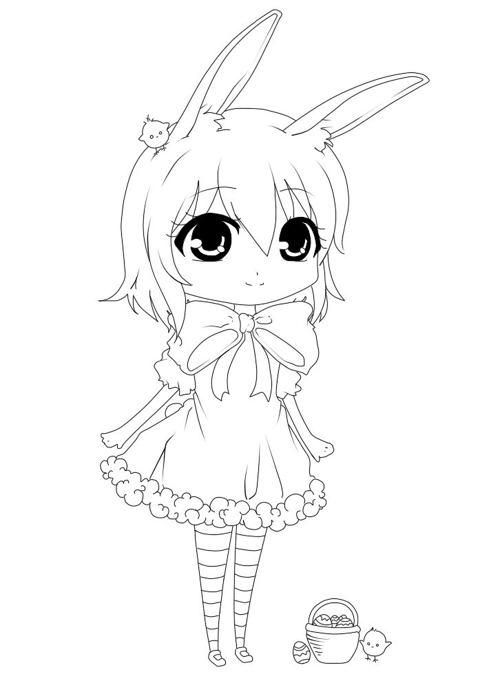 Blind Line Drawing Artists : Happy easter line art by silviiaa on deviantart kawaii