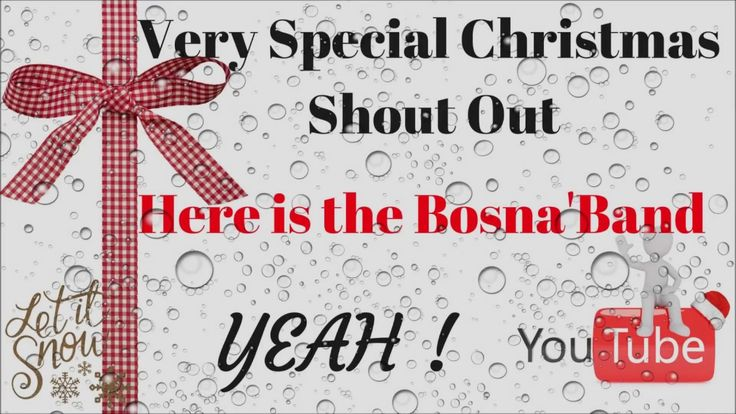 Very special Christmas shout out with Bosna's band /Christmas eve meetin...