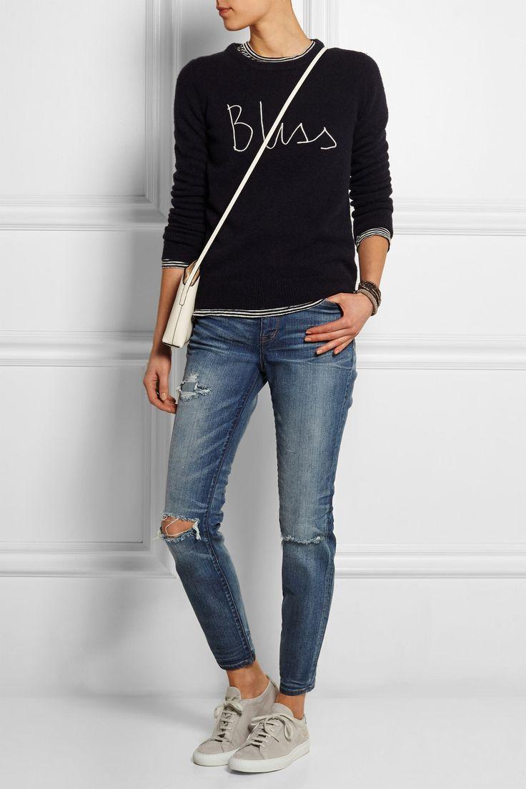Madewell|The High Riser distressed skinny jeans|NET-A-PORTER.COM