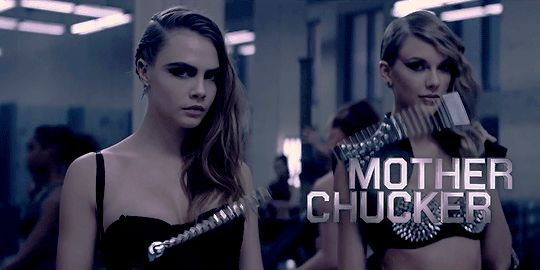 Cara Delevingne as Mother Chucker - Taylor Swift - Bad Blood ft. Kendrick Lamar
