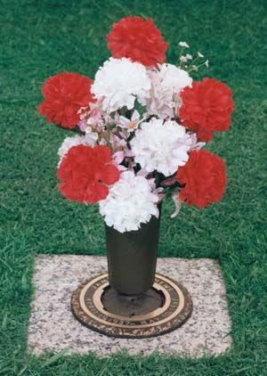 When Your Bronze Flower Vase Is Not In Use It Can Be Turned Upside Down To Prevent The Cemetery