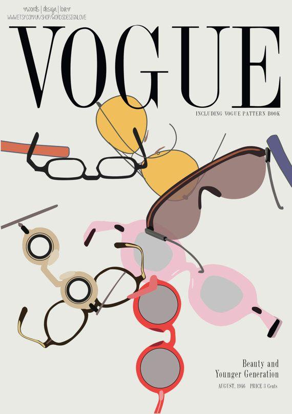 Vintage Vogue Cover Fashion Print.