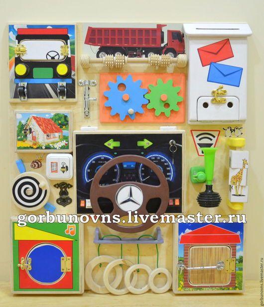 Развивающие игрушки ручной работы. Бизиборд Развивающий Модуль Доска