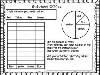 Probability activities for first and second grade. These are fun, printer friendly activities. $
