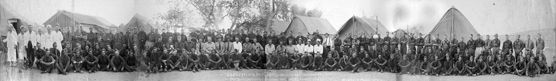 us forest service  1933 | Historic panoramic image of the men at the Puerco River CCC Camp