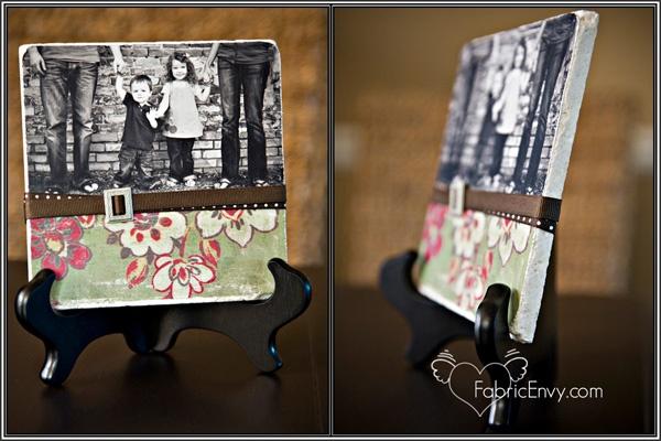Photo tile tutorial: Pictures Gifts, Tile Tutorials, Tile Crafts, Diy'S Photo, Crafts Idea, Photo Tile, Fabrics Envi, Gifts Idea, Photo Coasters
