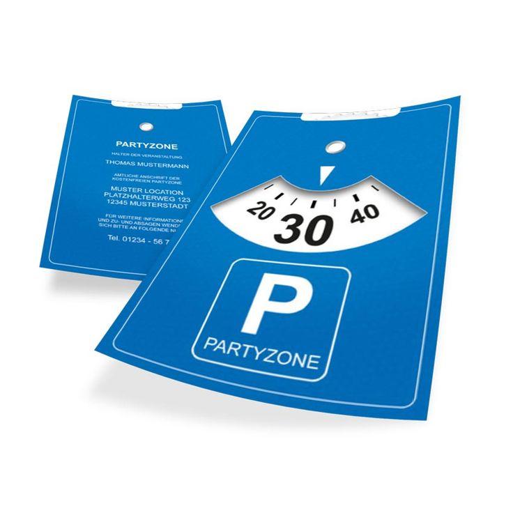 Designvorlage - Geburtstagseinladung als Flyer A5 im Parkscheiben-Design. | Online-Druck.biz | #birthday #print #design