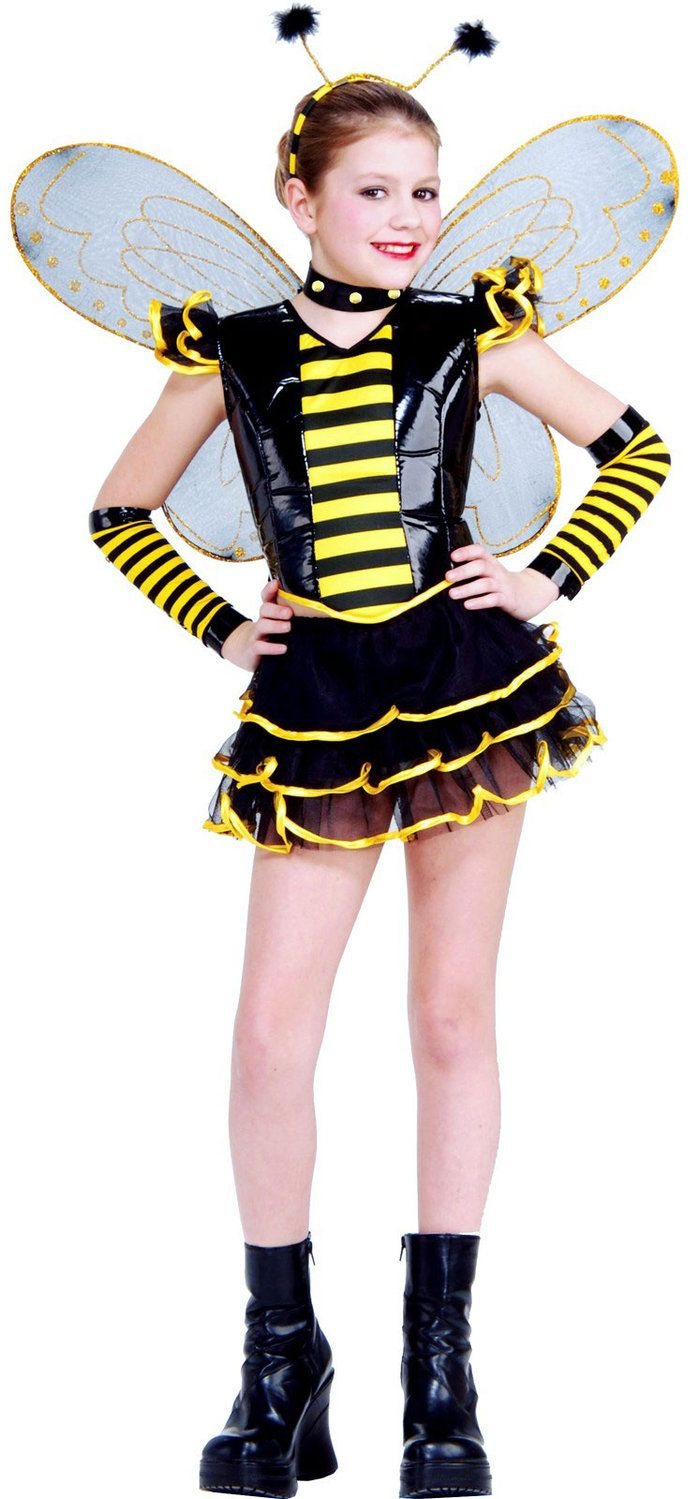 Girls Sassy Queen Bee Costume Bumble Bee Costumes - Mr. Costumes