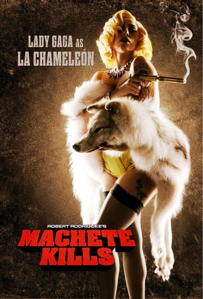 'Machete Kills' (2013) Movie First Look HD Poster – Lady Gaga as 'La Chameleon'