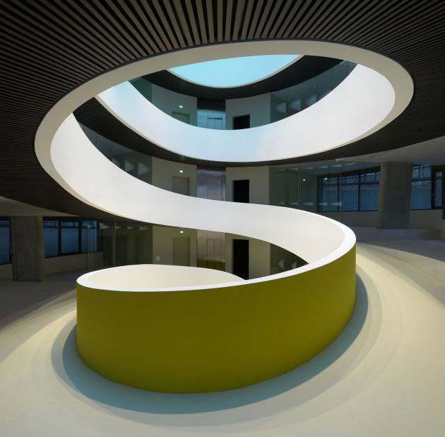 Modern Swiss Architects Office Design The Cocoon in Zurich Staircase
