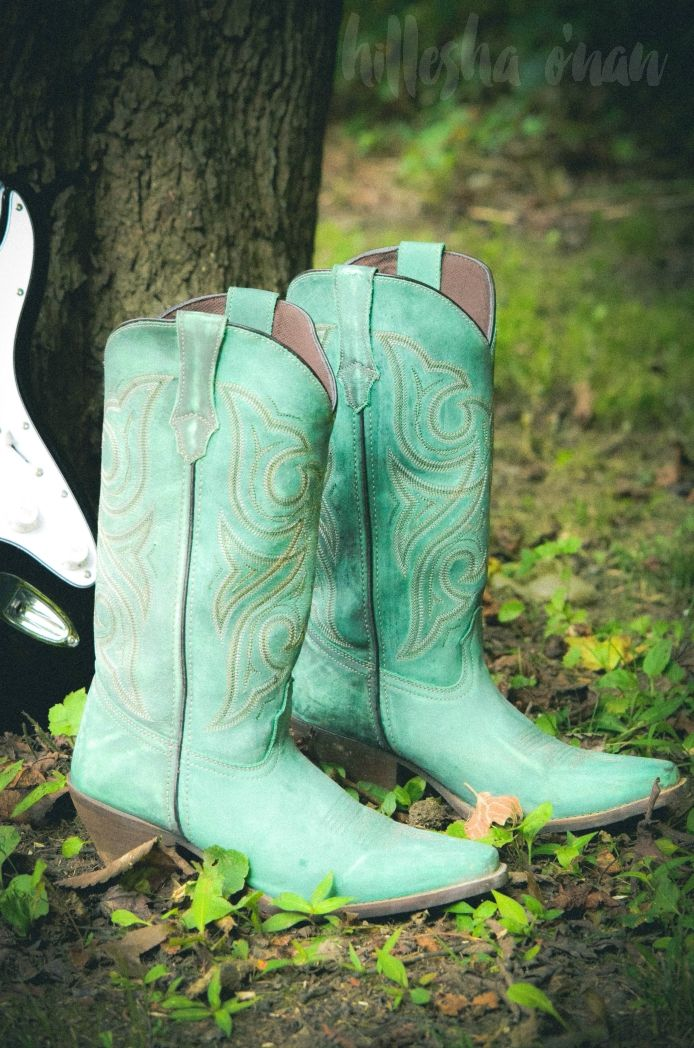 Crush by Durango Women's Marbled Turquoise Western Boots