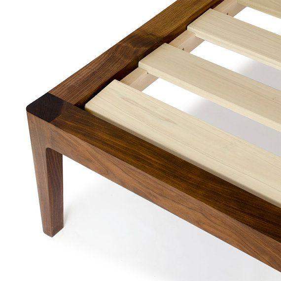 walnut platform bed no 1 modern wood bed frame twin full queen king