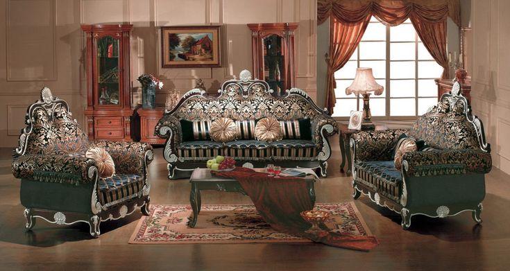 Шторы для гостиной в стиле барокко