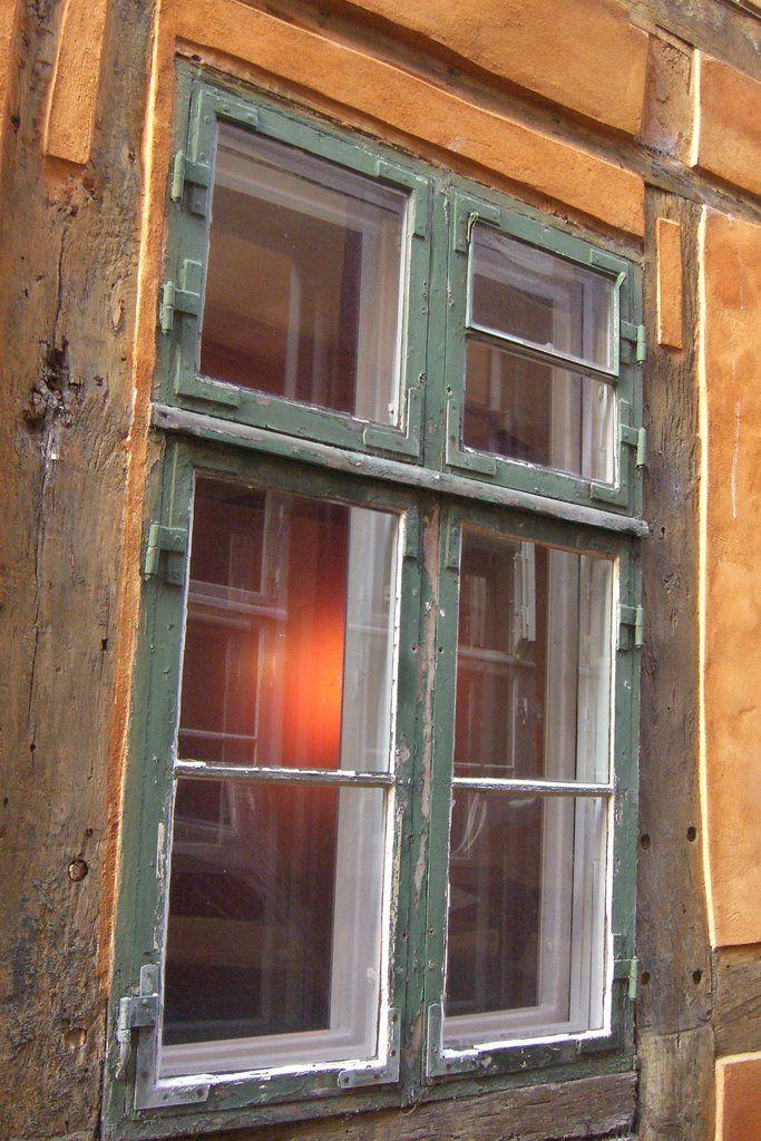Denmark, Helsignor, Window in a very old house in a very old street