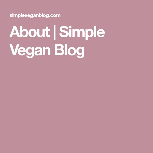 About | Simple Vegan Blog