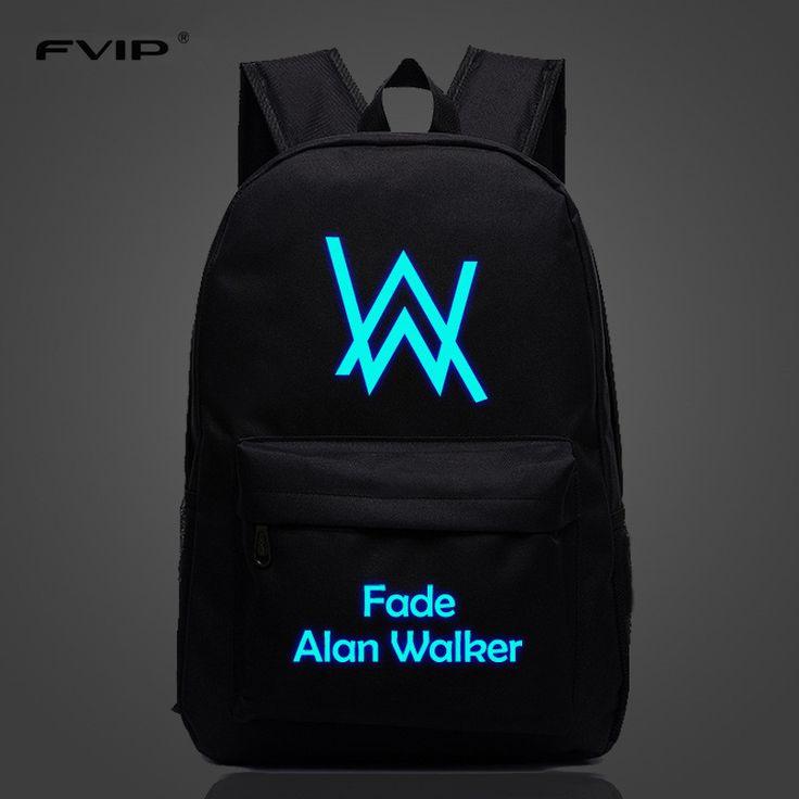 FVIP Music DJ Comedy Alan Walker Faded Backpack High Quality School Bag Travel Bags For Men Women #Affiliate