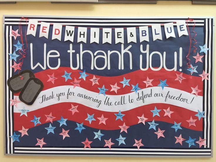 November bulletin board #Veteran'sDay