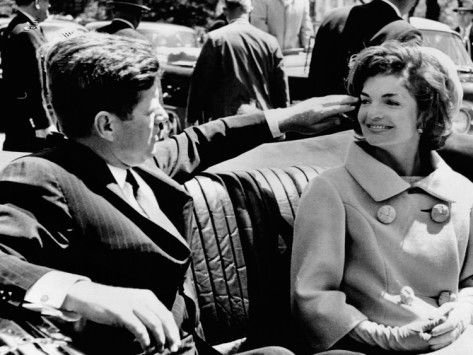 President Kennedy Tidies His Wife's Hair Photographic Print at AllPosters.com