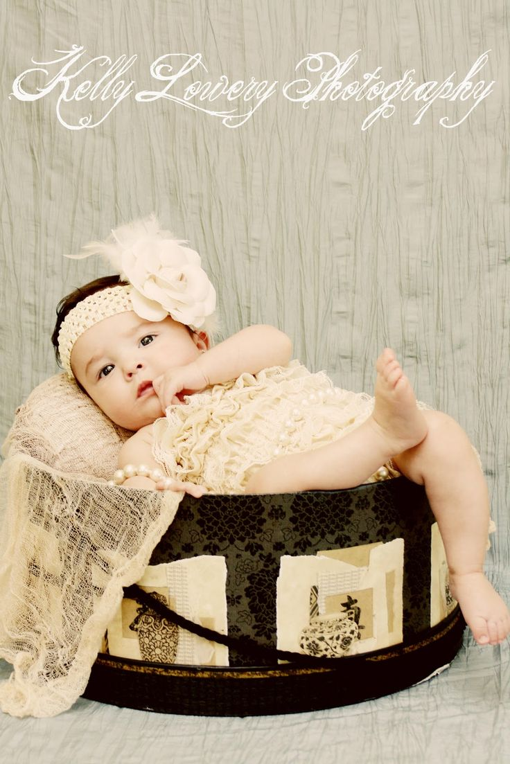 Hat Box + Baby Lace Rompers :)