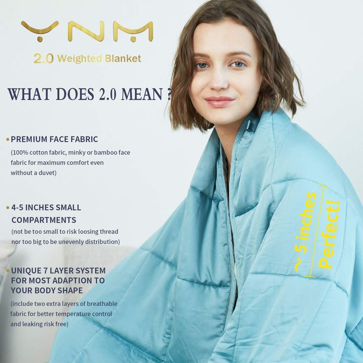 Ynm Cooling Weighted Blanket Natural Bamboo Viscose 15