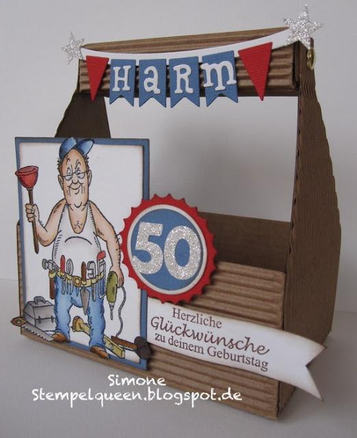 Stempelqueen werkzeugbox zum 50 geburtstag anleitungen pinterest - Pinterest 50 geburtstag ...