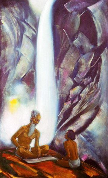 Святослав Рерих. Духовное искусство. Священные слова. 153х92 Холст, темпера 1944 Svetoslav Roerich
