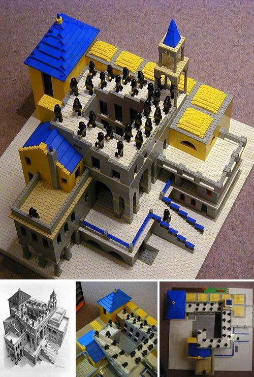 M.C. Escher in LEGO mentioned in chapter 23 of Deja Who?