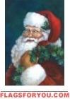 Santa's On His Way Garden Flag