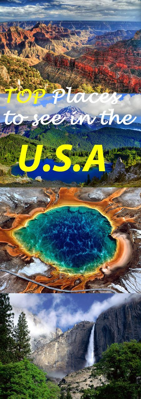 Top Places to see in the USA - Destination Guide #USA #travel #destinationguide