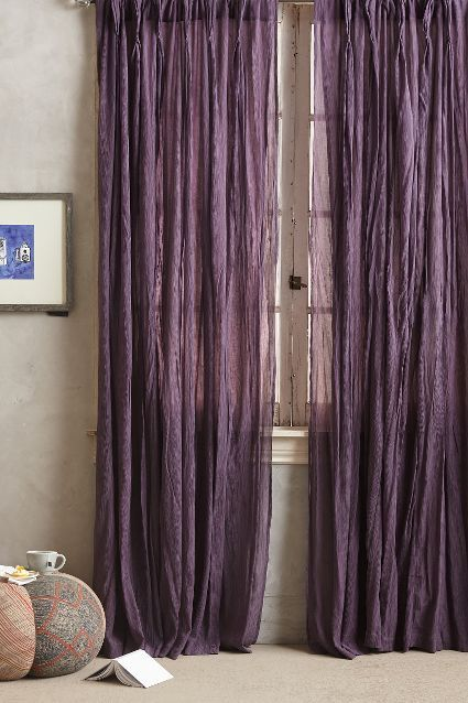 add some color to your room with these purple curtains http://rstyle.me/n/vtypipdpe •I need short purple curtains -nat•