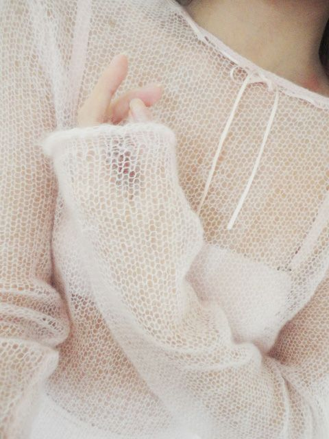 Love this very simple easy wearing k.n.i.t. mohair sweater:)