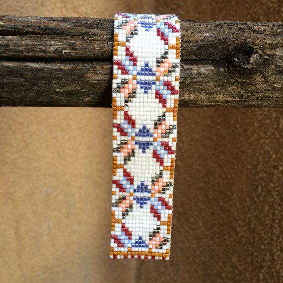 Native Bows Bead Loom Friendship Bracelet Bohemian por PuebloAndCo                                                                                                                                                                                 Más