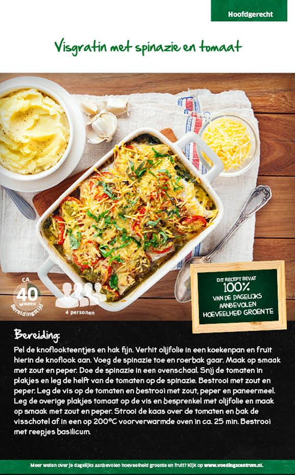 Visgratin met spinazie en tomaat - Lidl Nederland