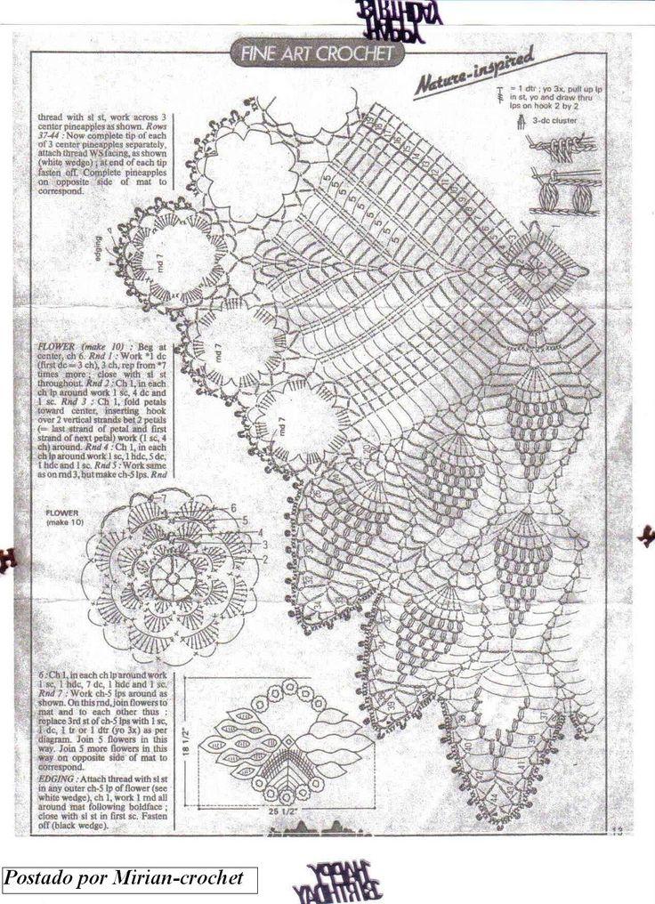 Mejores 482 im genes de crochet 2 en pinterest patrones - Patrones tapetes ganchillo ...