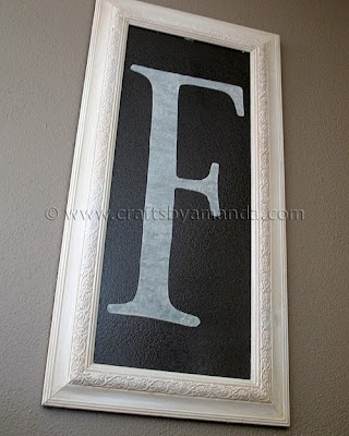 """Framed Monogram 