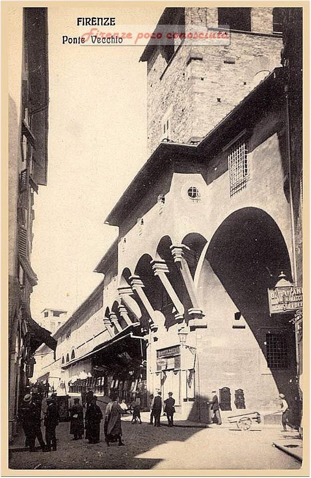 Ponte Vecchio nel 1910, un piccolo scorcio di questo ex angolo di paradiso Firenze