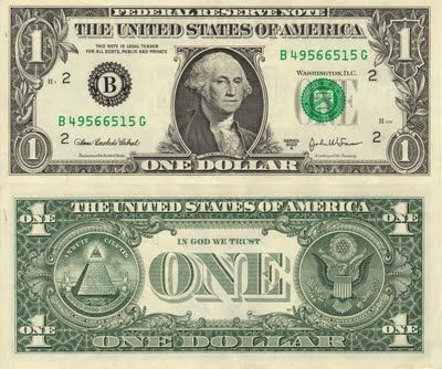 cambraza - Prophecy: Hidden Symbolism of the Dollar... There are very clear masonic symbols hidden within the dollar bill. Together they tell of the creation of a new world order based on the slavery of the peoples with the power elite at the control. They deify there god the devil himself as the all seeing eye.This power of control is based on money and the creation one world government. This symbolism has been decoded by an x Illuminati student Doc Marquis.