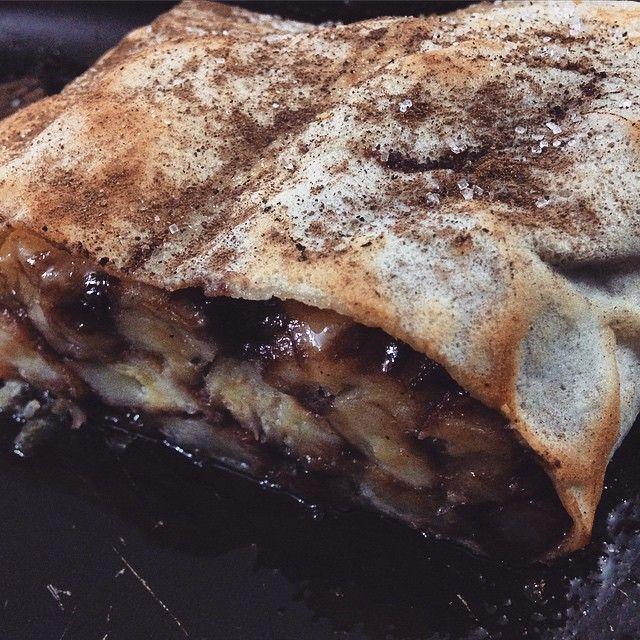 crepe de banana com chocolate #crepe #banana #chocolate #dinner #pornfood #gmy #sweet #cozinhaprosaica